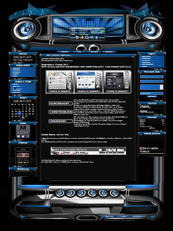 Beat Template-Blau 001
