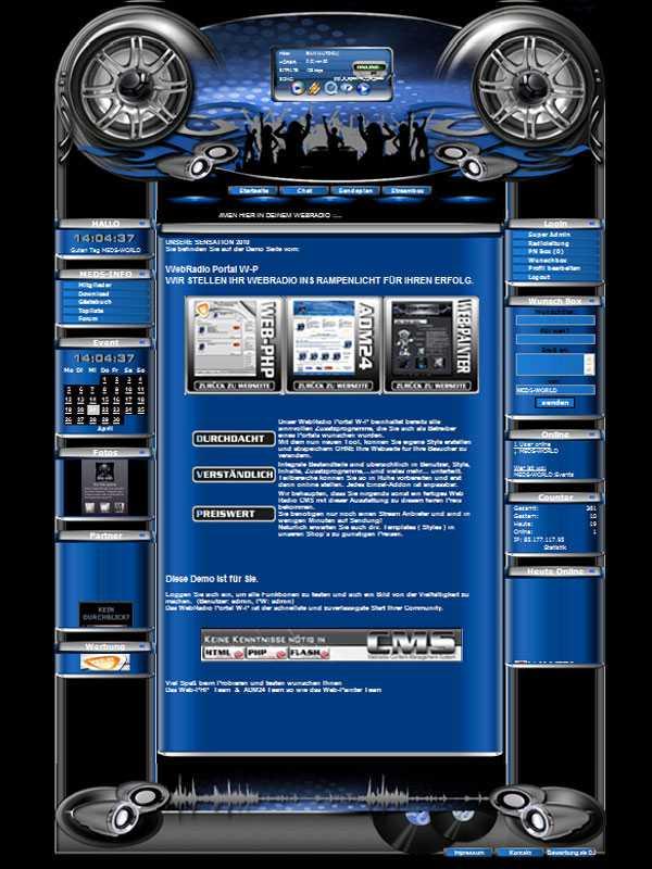 Rock Template-Blau 001