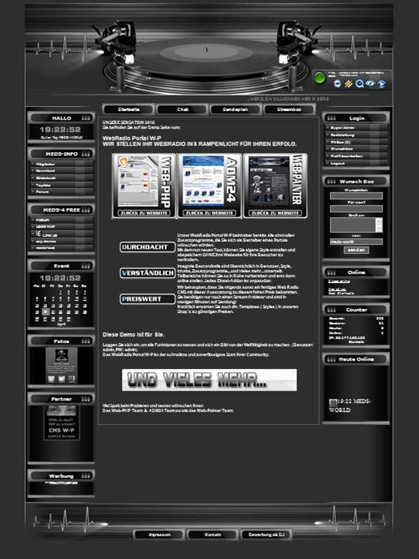 Turntable Template-Graphit 013