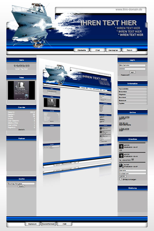 Ideal Standard: Boot Template-Blau 001_wp_boot_01