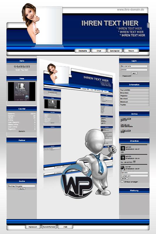 Ideal Standard: Werbe Girl Template-Blau 001_wp_werbe_girl_01