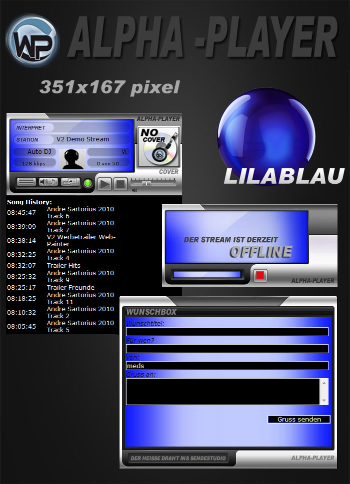 Alpha Player COVER Template-Lila-Blau 002_alpha_mcd_cover