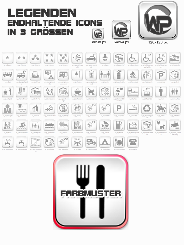 Icons Freizeit - Camping Template-Rot 006_fi_freizeit_camping
