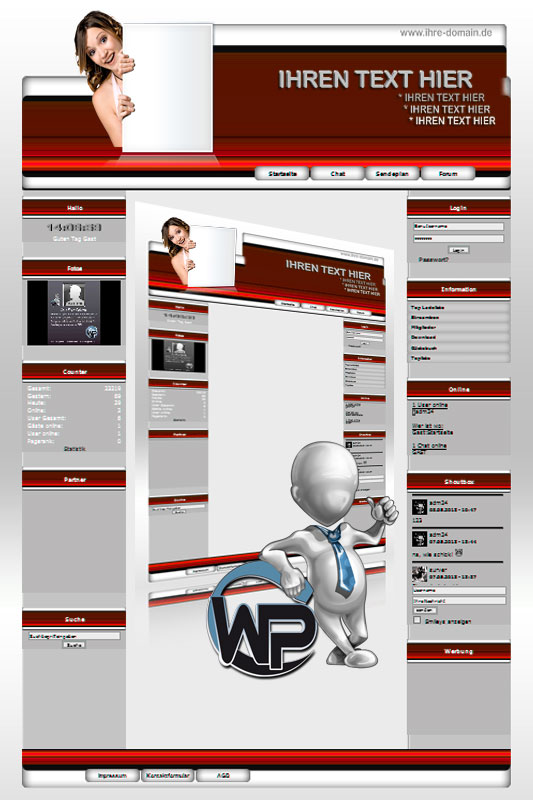 Ideal Standard: Werbe Girl Template-Rot 006_wp_werbe_girl_06