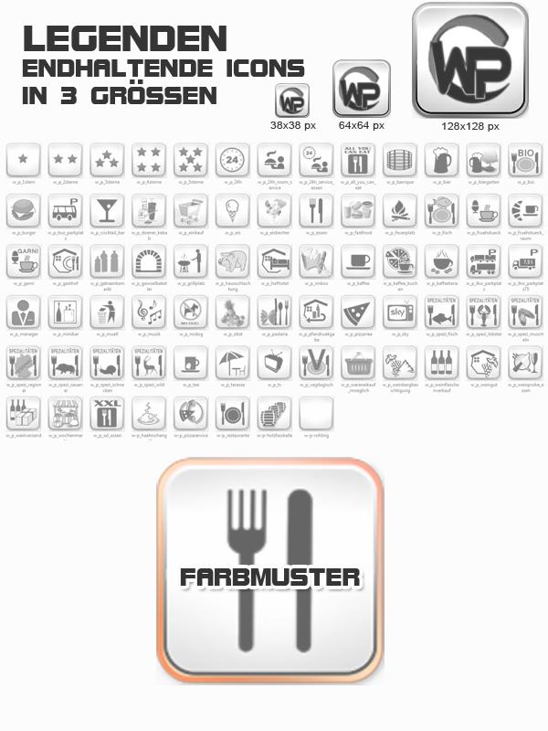 Icons Essen - Trinken Template-Orange 007_fi_essen_trinken