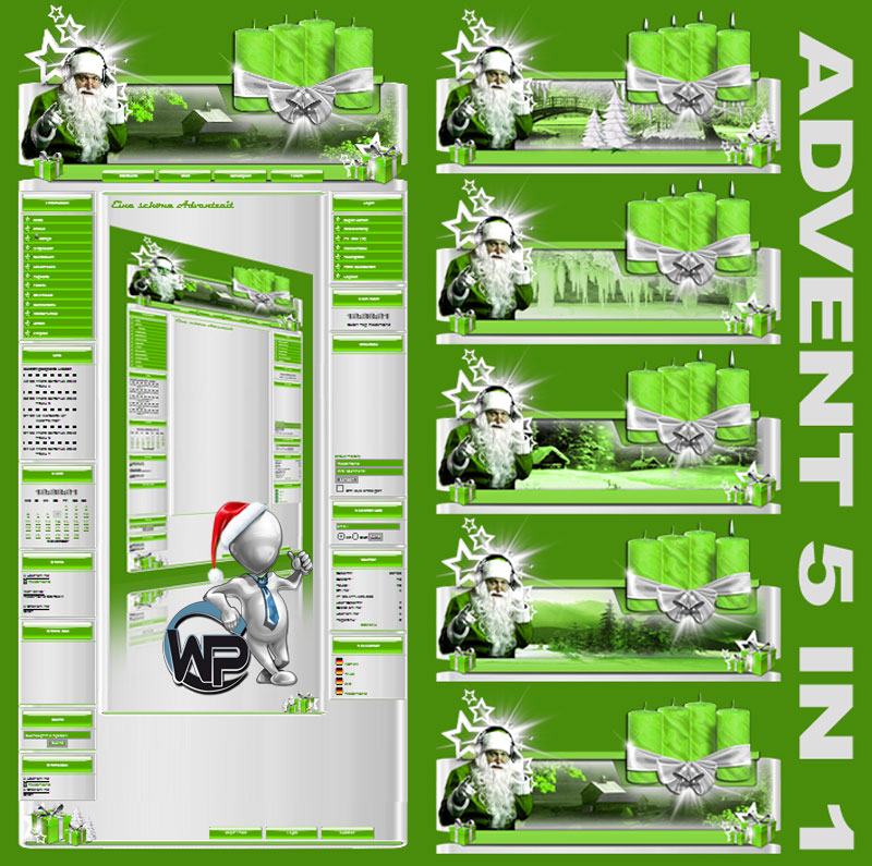 Advents Template 5in1 Template-Lindgrün 009_w-p_advent5in1