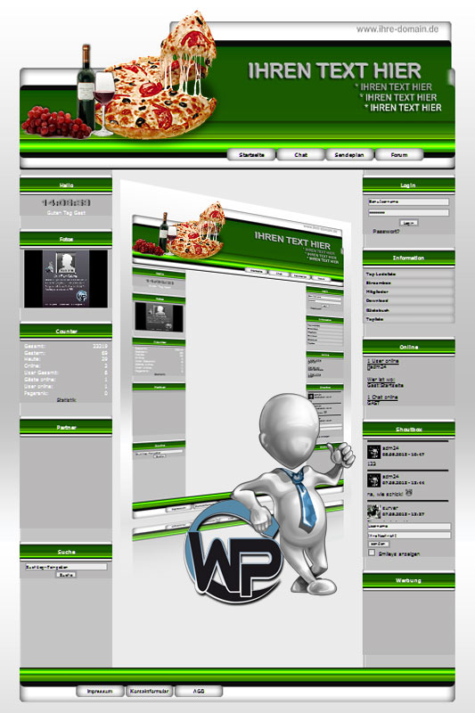 Ideal Standard: Pizza Template-Lindgrün 009_wp_pizza_09