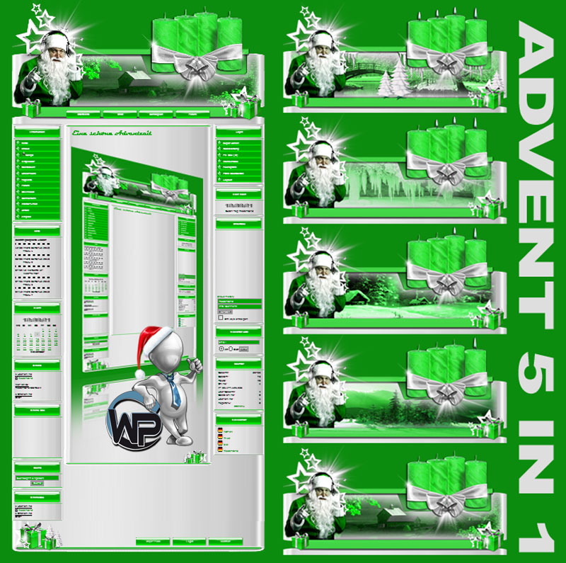 Advents Template 5in1 Template-Maigrün 010_w-p_advent5in1