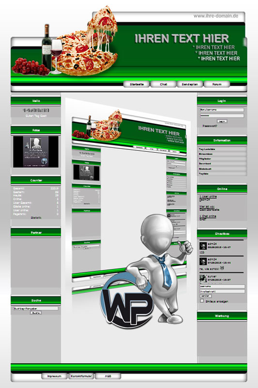 Ideal Standard: Pizza Template-Maigrün 010_wp_pizza_10