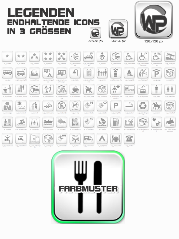 Icons Freizeit - Camping Template-Patrol 011_fi_freizeit_camping