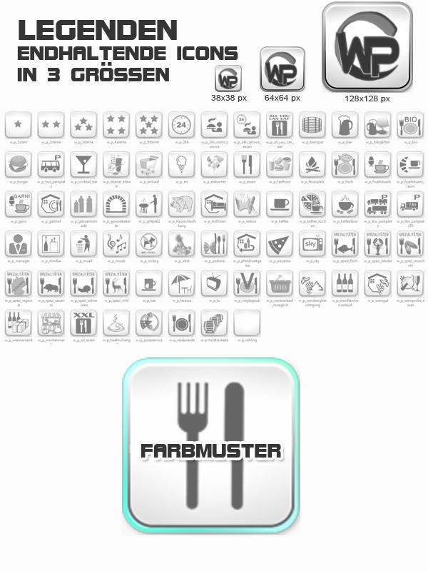 Icons Essen - Trinken Template-Türkis 012_fi_essen_trinken