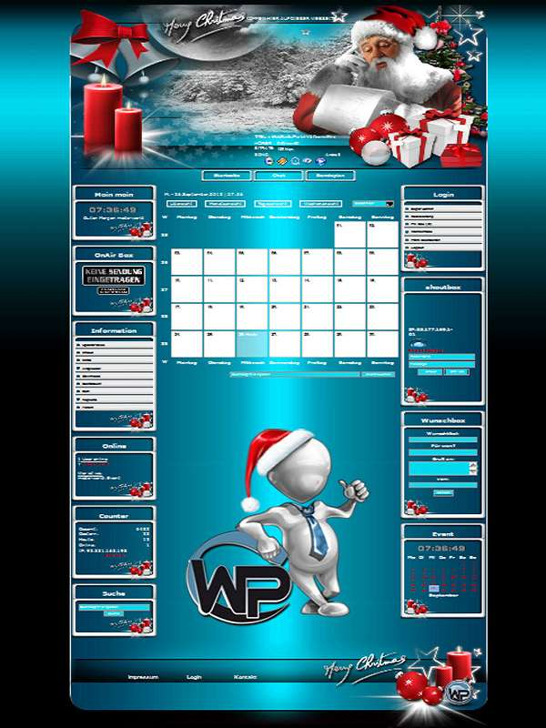 Christmas Template-Türkis 012_w_p_christmas