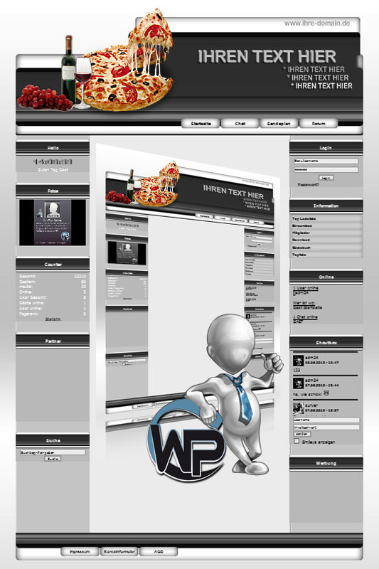 Ideal Standard: Pizza Template-Graphit 013_wp_pizza_13