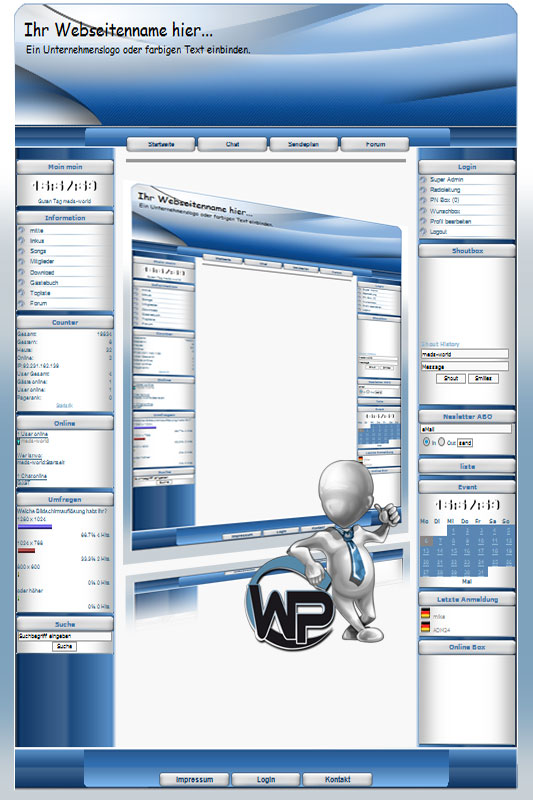 W-P Business Blue 1, Business-Template für das CMS Portal V2
