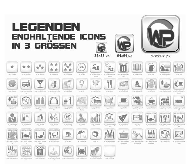 FeWo Buchung Icons