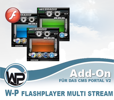 W-P Flashplayer Multi Stream  - Add-On