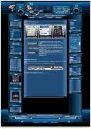 Music Template-Blau 001