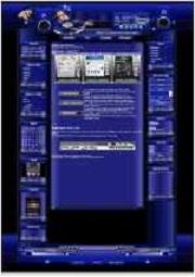 Music Template-Lila-Blau 002