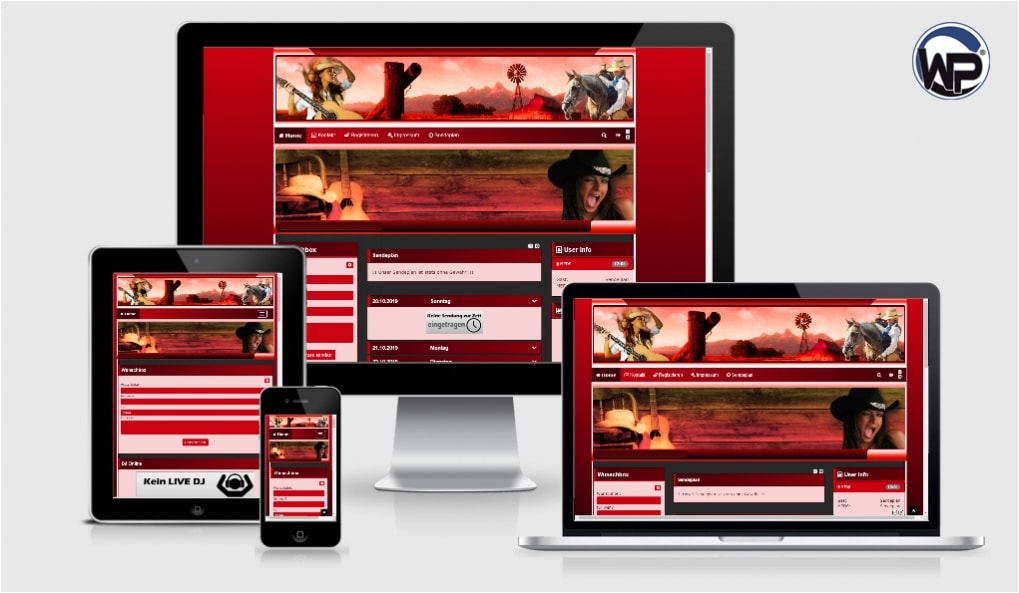 Musik Template 11 - CMS Portal Mobile
