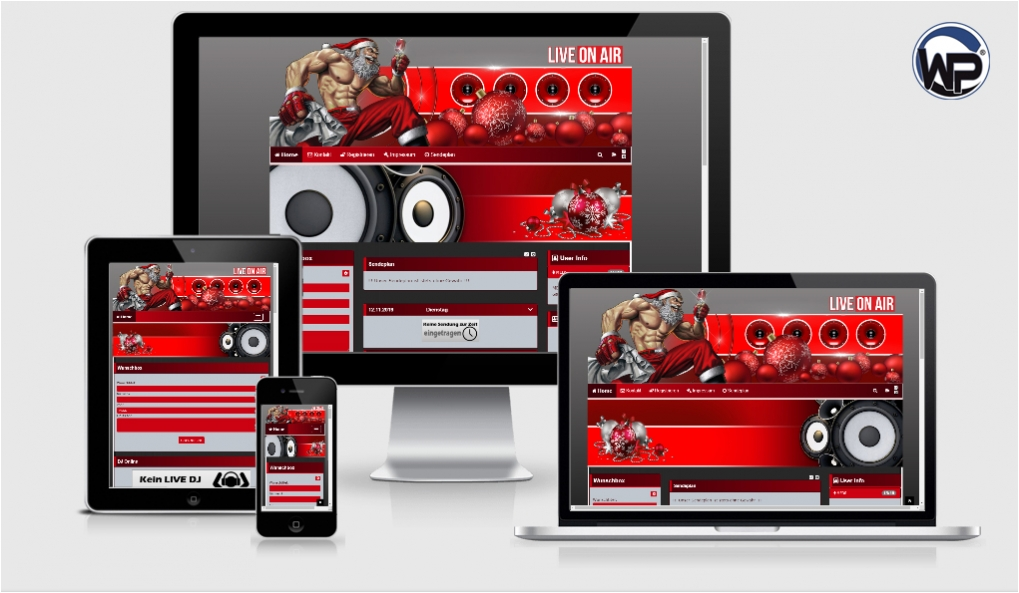 102 Xmas Template 02 - CMS Portal Mobile