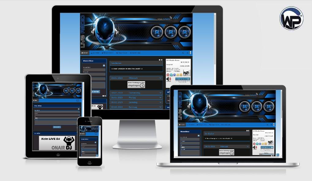 Radio Template Solo01 - CMS Portal Mobile