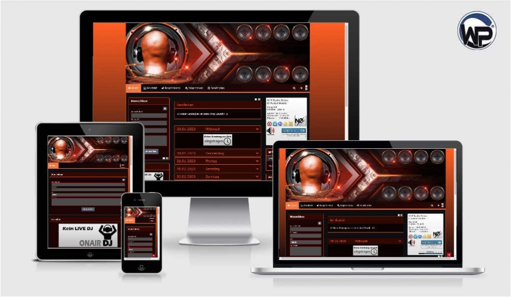 Musik Template 05 - CMS Portal Mobile