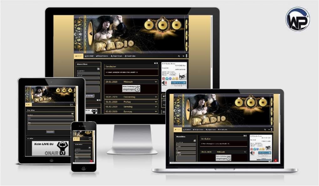 Radio Template Solo09 - CMS Portal Mobile