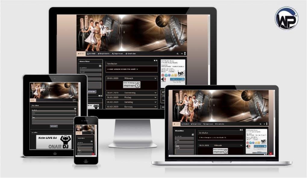 Radio Template Solo10 - CMS Portal Mobile