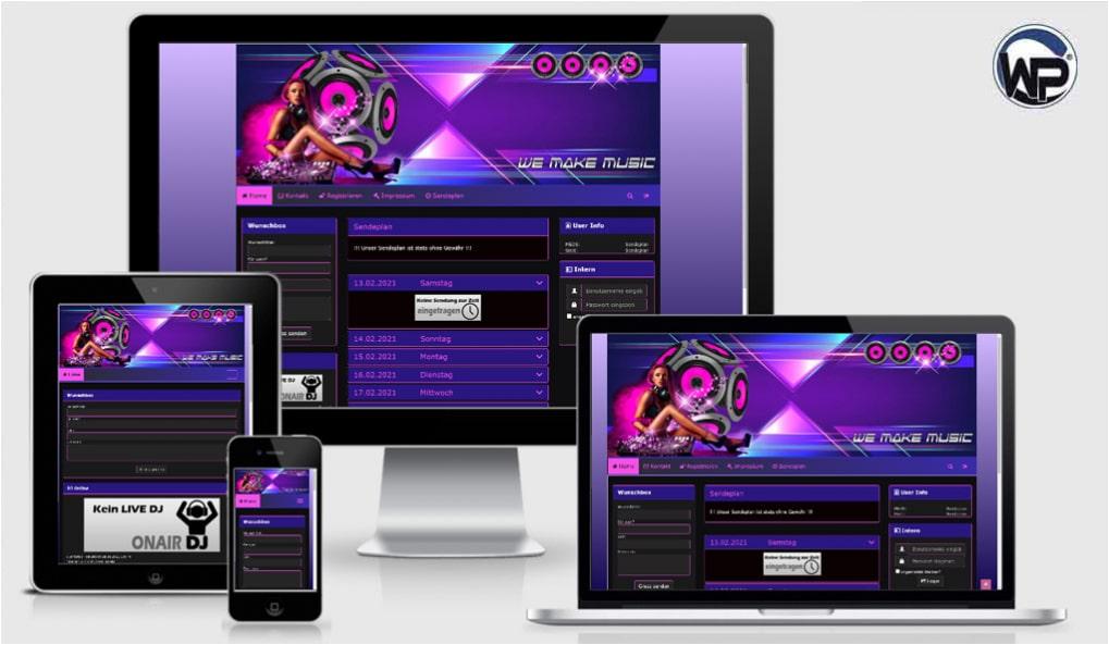 Radio Template Solo19 - CMS Portal Mobile