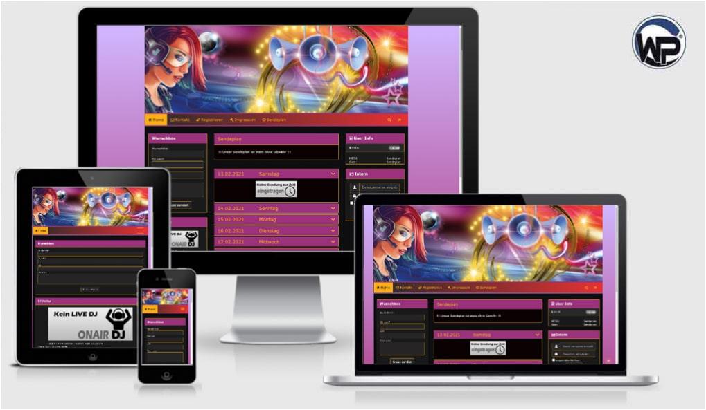 Radio Template Solo20 - CMS Portal Mobile