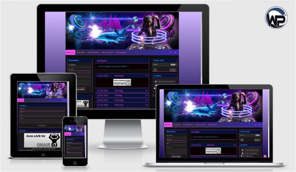 Radio Template Solo21 - CMS Portal Mobile