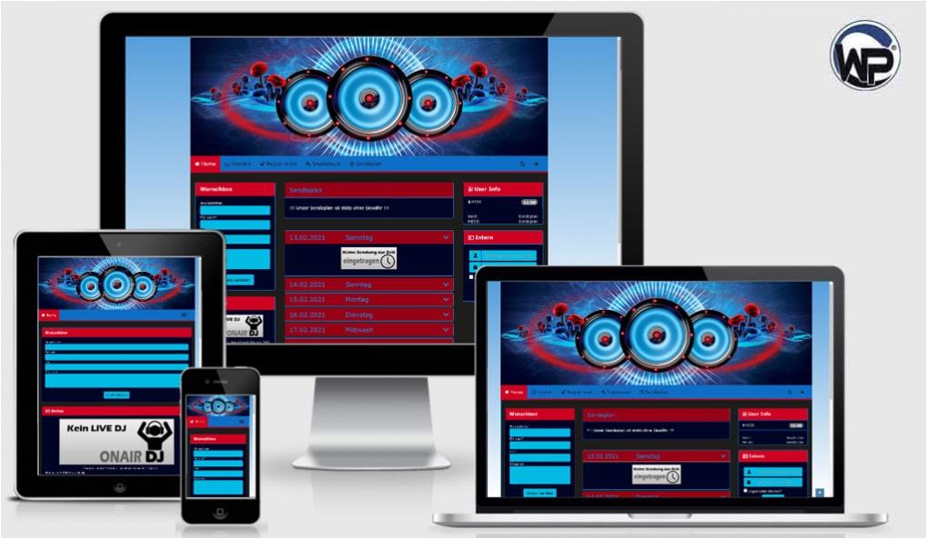 Radio Template Solo22 - CMS Portal Mobile