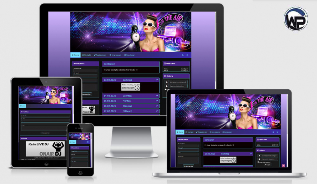 Radio Template Solo25 - CMS Portal Mobile
