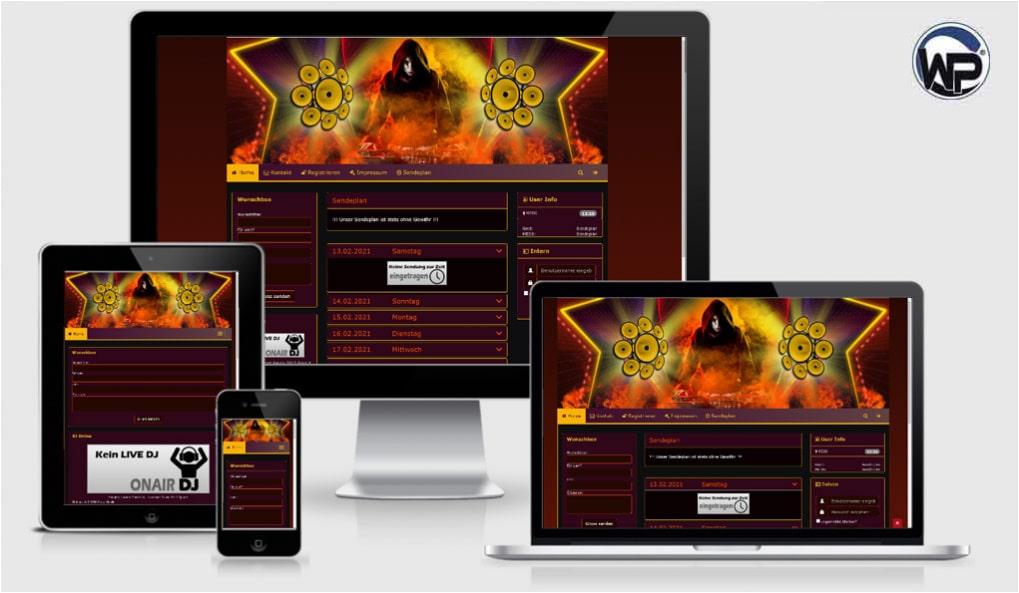 Radio Template Solo26 - CMS Portal Mobile