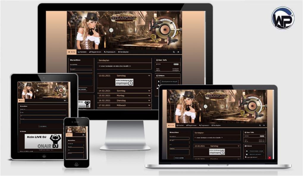 Radio Template Solo28 - CMS Portal Mobile