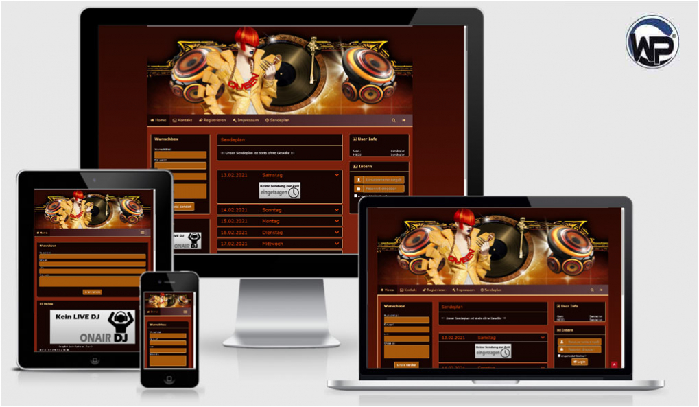 Radio Template Solo29 - CMS Portal Mobile