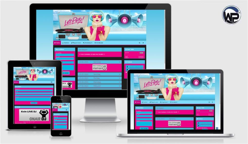 Radio Template Solo30 - CMS Portal Mobile