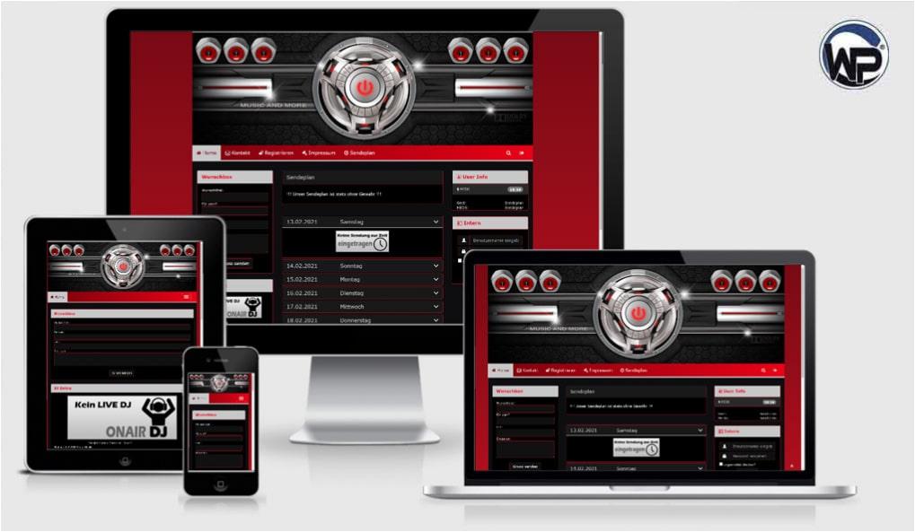 Radio Template Solo37 - CMS Portal Mobile