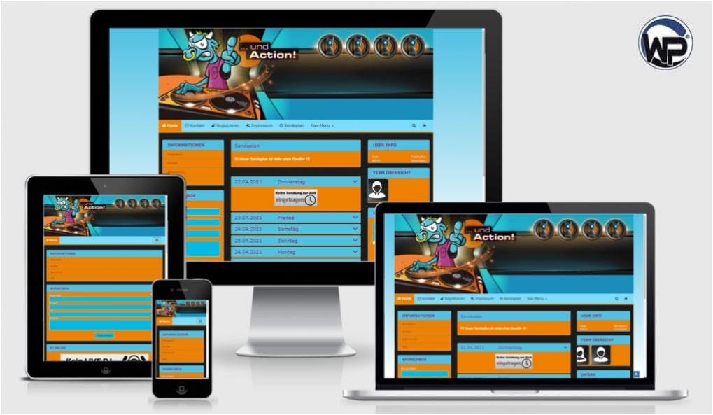 Radio Template Solo44 - CMS Portal Mobile