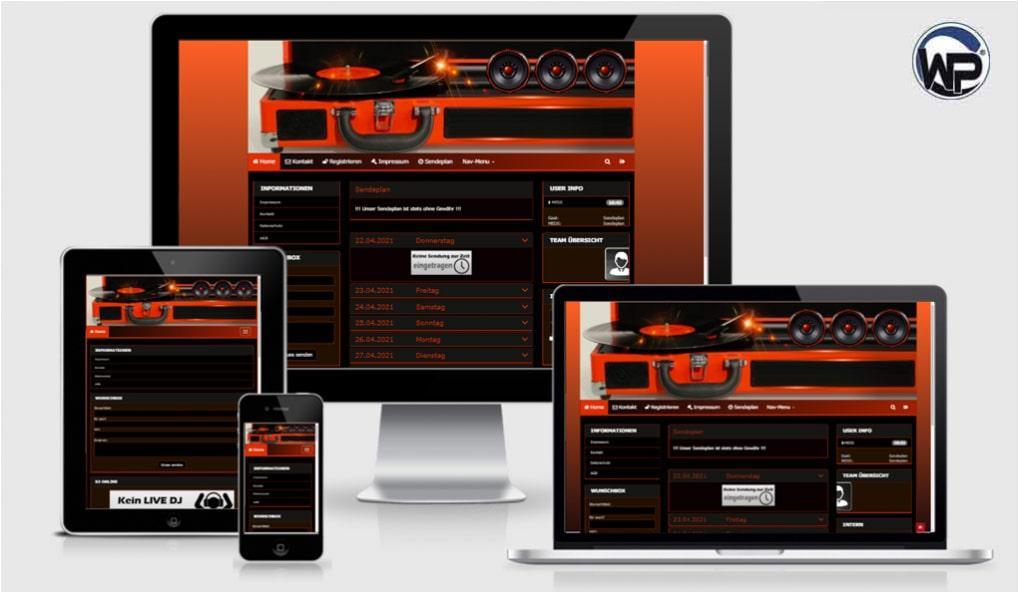 Radio Template Solo46 - CMS Portal Mobile