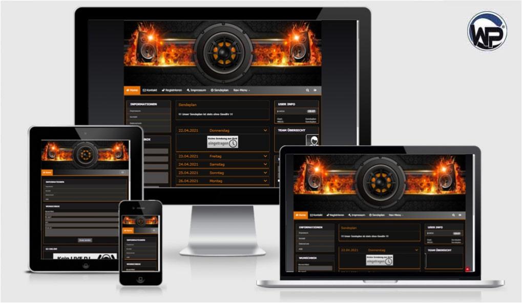 Radio Template Solo52 - CMS Portal Mobile