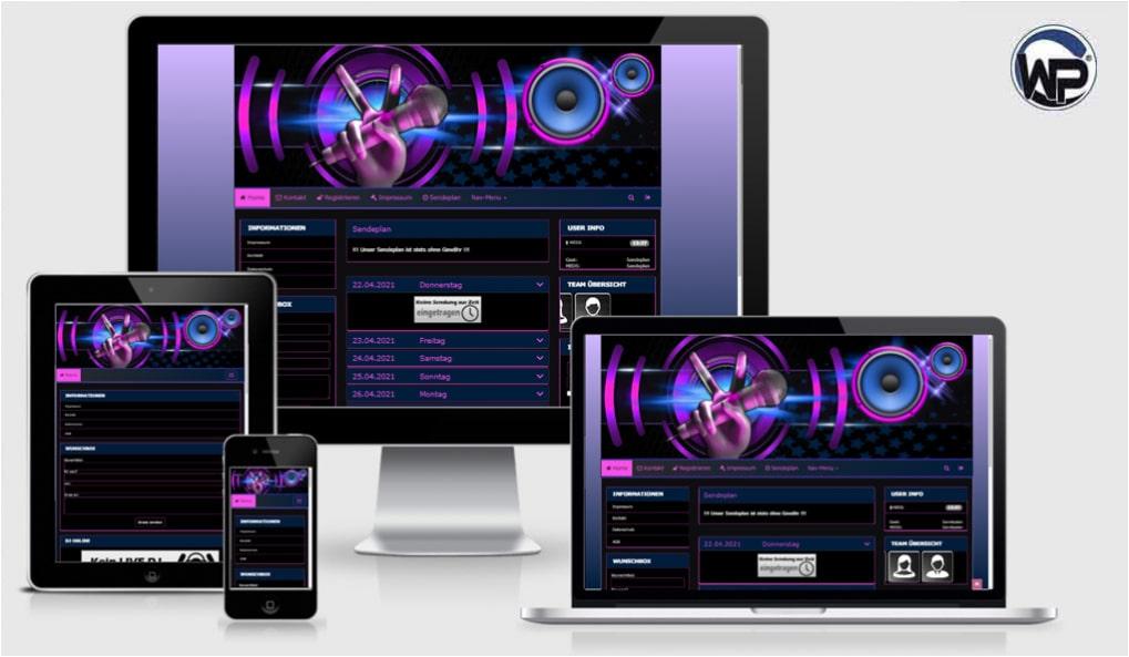 Radio Template Solo54 - CMS Portal Mobile