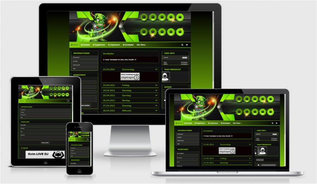 Radio Template Solo59 - CMS Portal Mobile
