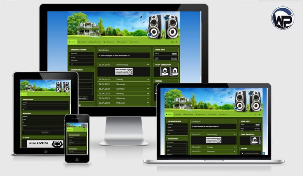 Radio Template Solo60 - CMS Portal Mobile