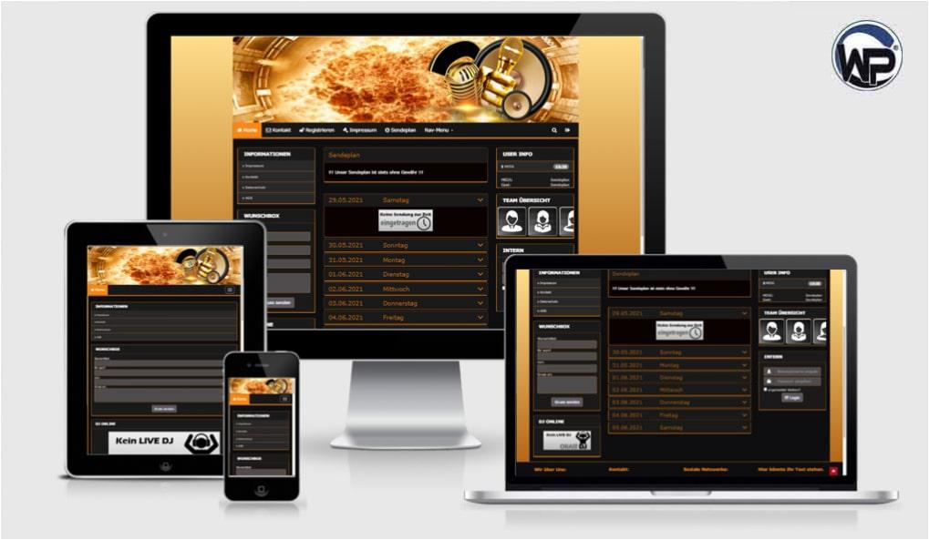 Radio Template Solo62 - CMS Portal Mobile