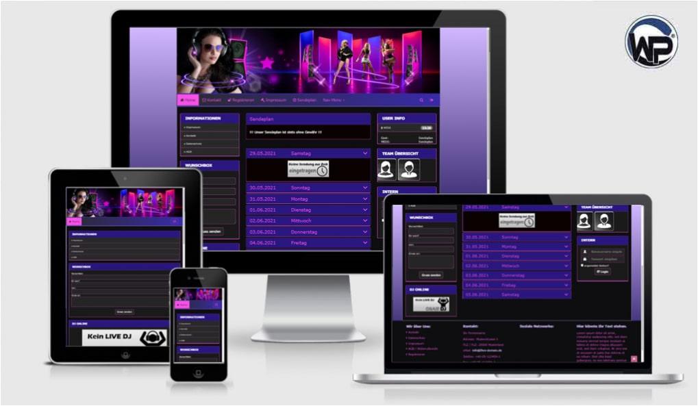 Radio Template Solo63 - CMS Portal Mobile