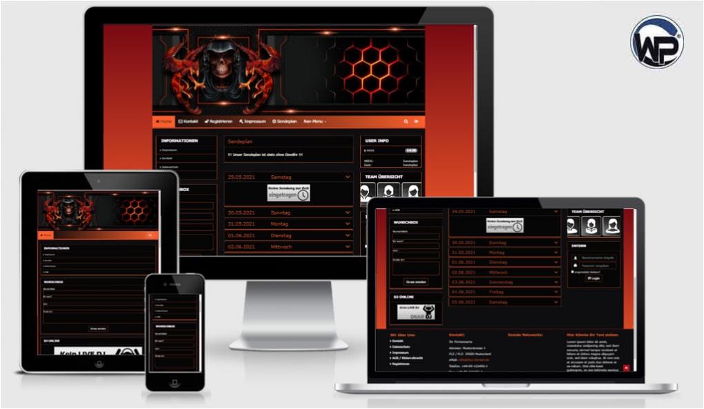Radio Template Solo72 - CMS Portal Mobile
