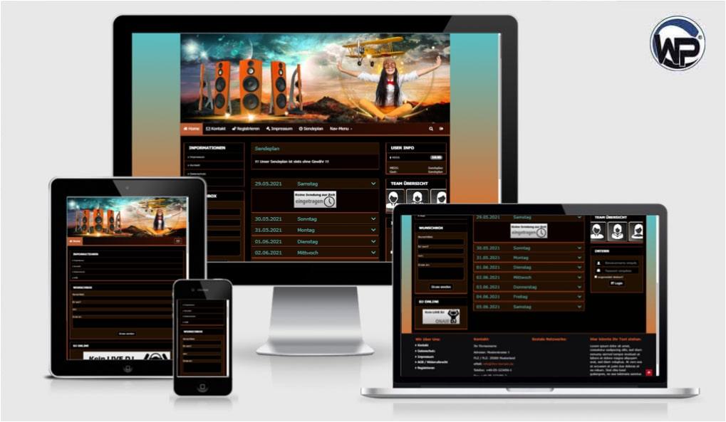 Radio Template Solo74 - CMS Portal Mobile