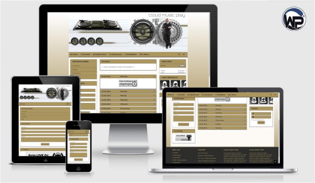Radio Template Solo75 - CMS Portal Mobile