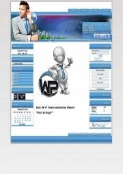 W-P Blue Business, Business-Template für das CMS Portal V2
